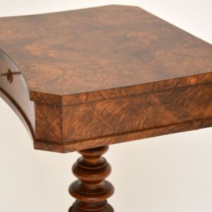 antique victorian burr walnut sewing box vanity table