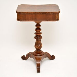Antique Burr Walnut Vanity or Work Table