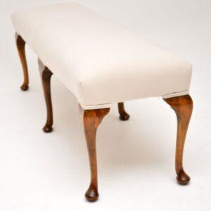 antique edwardian foot stool bench