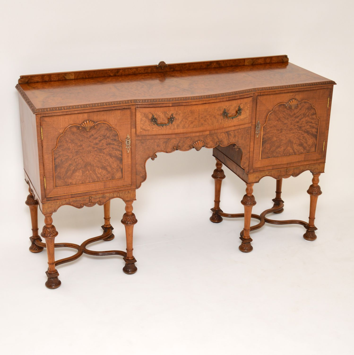 antique burr walnut sideboard
