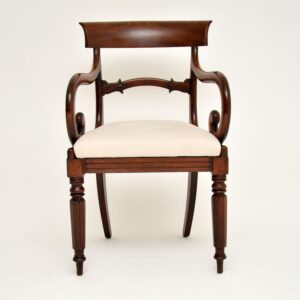 Set of 6 Antique Victorian Mahogany Dining Chairs