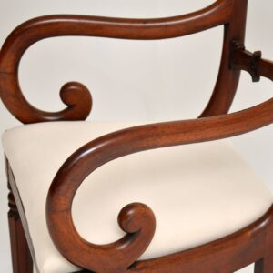 set of six antique mahogany victorian dining chairs