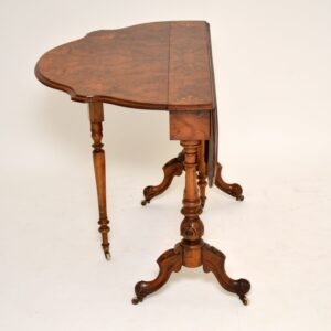 Antique Burr Walnut Drop Leaf Sutherland Table