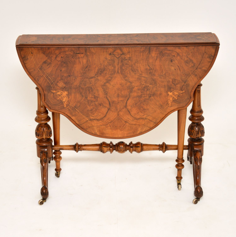antique burr walnut victorian sutherland table
