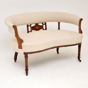 antique edwardian inlaid rosewood sofa settee