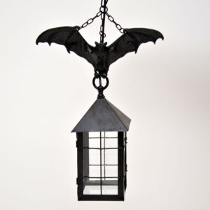 antique french iron bat lantern lamp