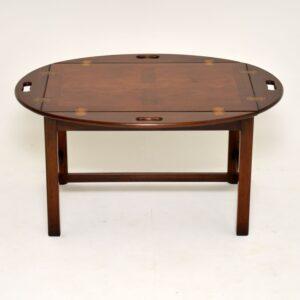 antique georgian mahigany butlers tray coffee table