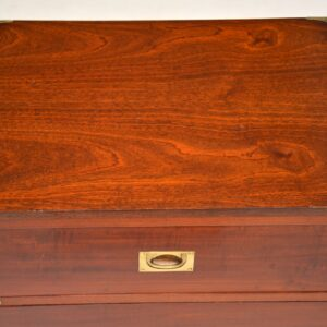 Antique Military Campaign Mahogany Chest of Drawers