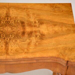 Antique Georgian Style Burr Walnut Card Table