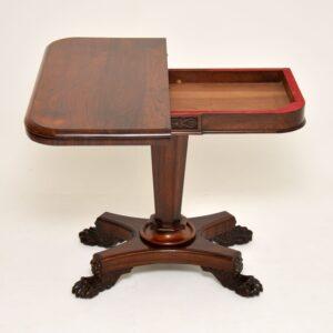 antique regency william IV rosewood card games table
