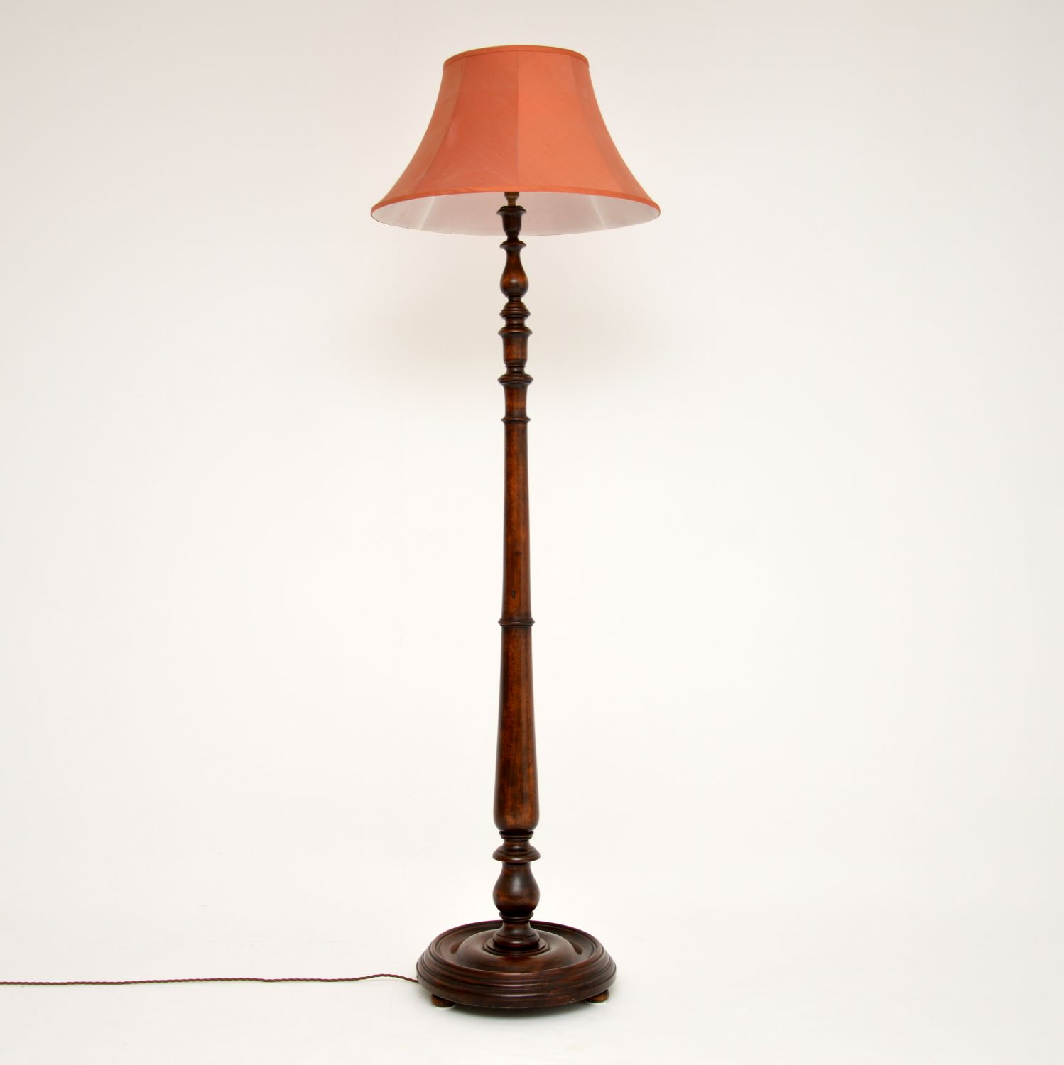 antique victorian mahogany lamp stand lighting