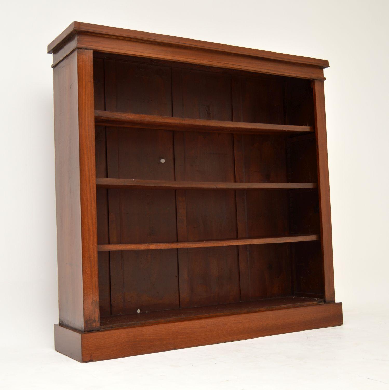 antique mahogany victorian open bookcase