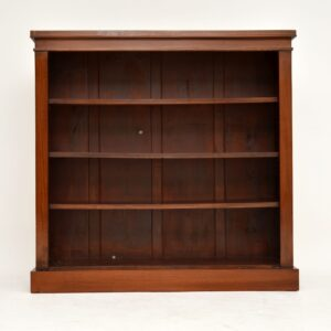 antique mahogany victorian open bookcase