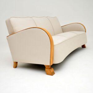 Swedish Art Deco Satin Birch Sofa