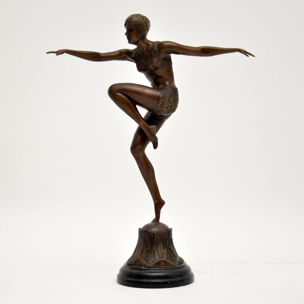 art deco ferdinand preiss bronze sculpture