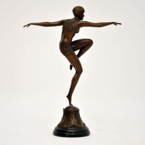 art deco ferdinand preiss bronze sculpture