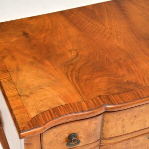 Antique Burr Walnut Low Boy Chest / Side Table