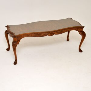 antique burr walnut coffee table