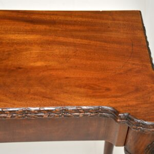 Antique Carved Walnut Card Table