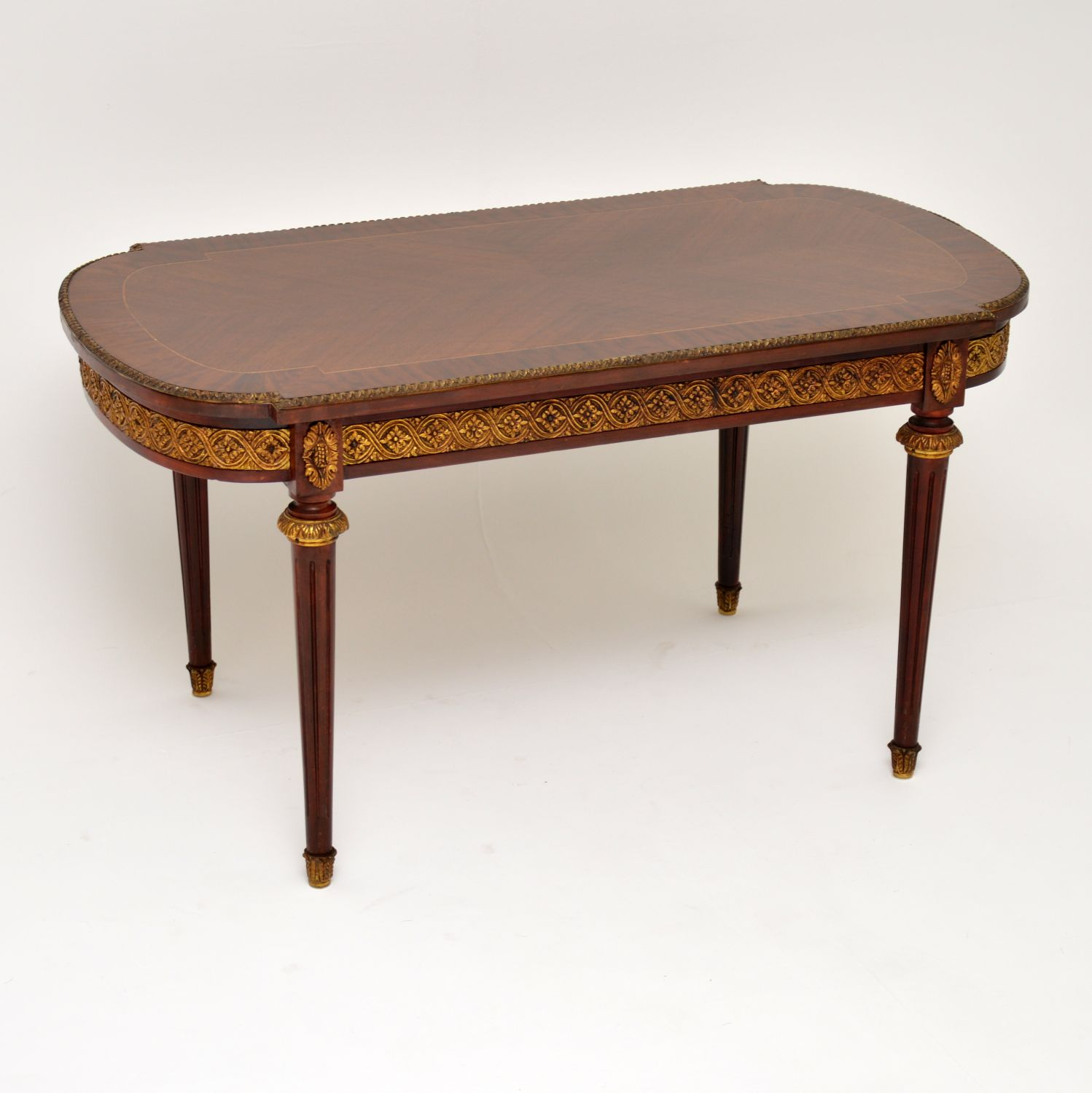 antique french inlaid king wood coffee table
