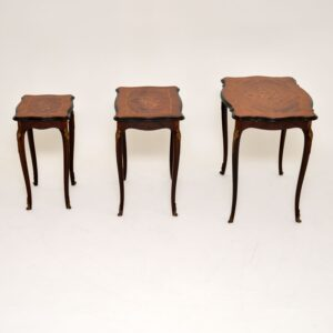 antique french inlaid rosewood nest of tables