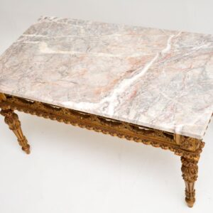 antique french gilt wood coffee table