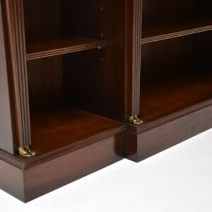 Antique Mahogany Neo Classical Style Bookcase