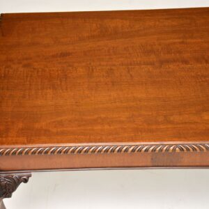 antique mahogany chippendale writing table desk side table