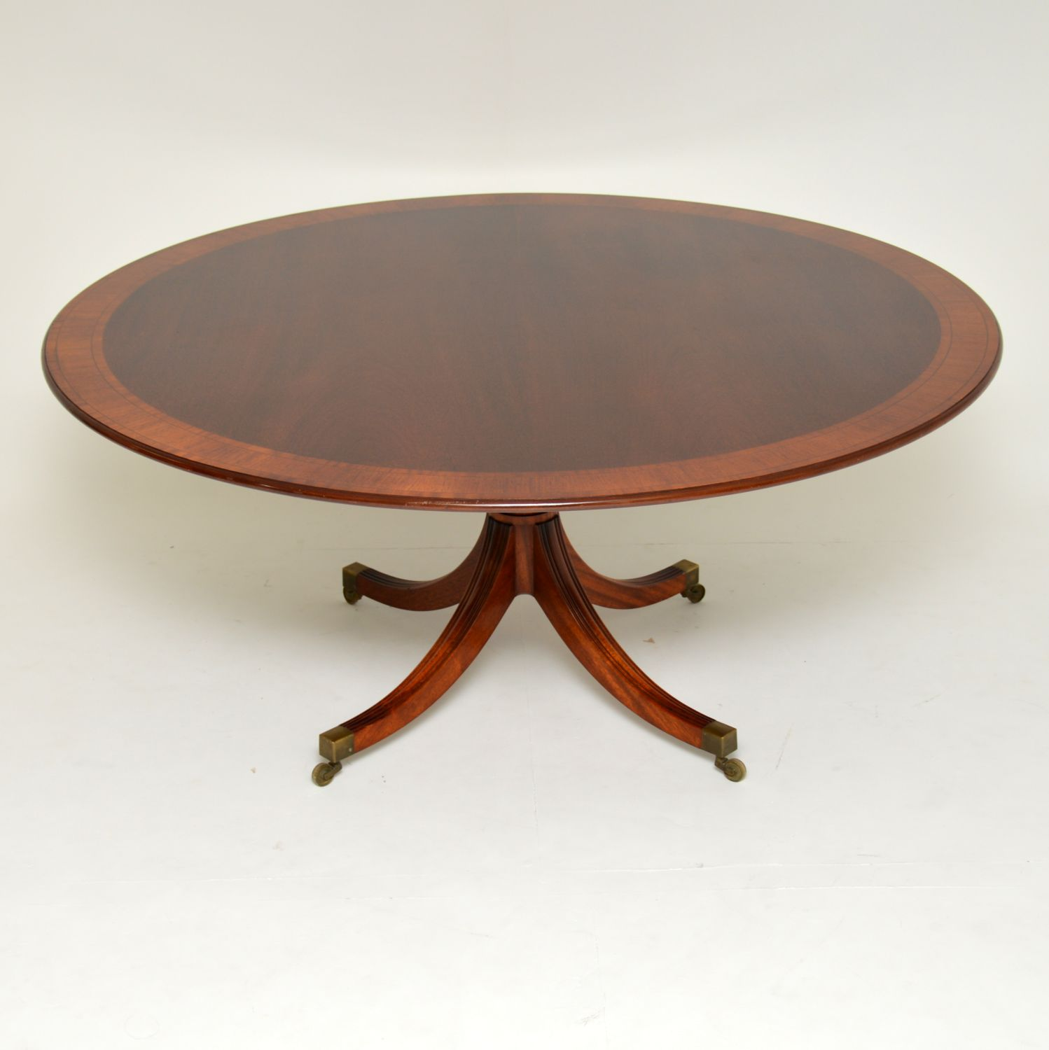 antique georgian inlaid mahogany tillman dining table