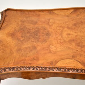 Antique Queen Anne Style Walnut Nesting Coffee Table
