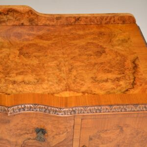 Antique Queen Anne Style Burr Walnut Server / Sideboard
