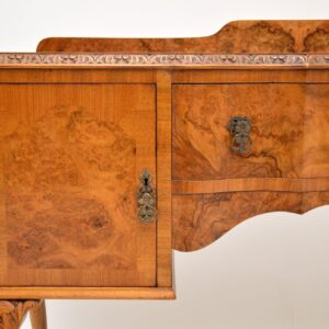 antique burr walnut queen anne server sideboard