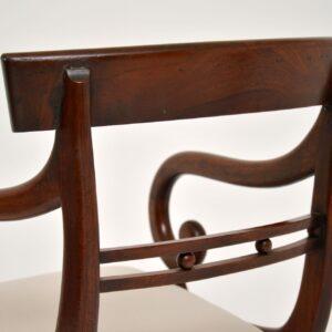 antique regency mahogany armchair desk chair