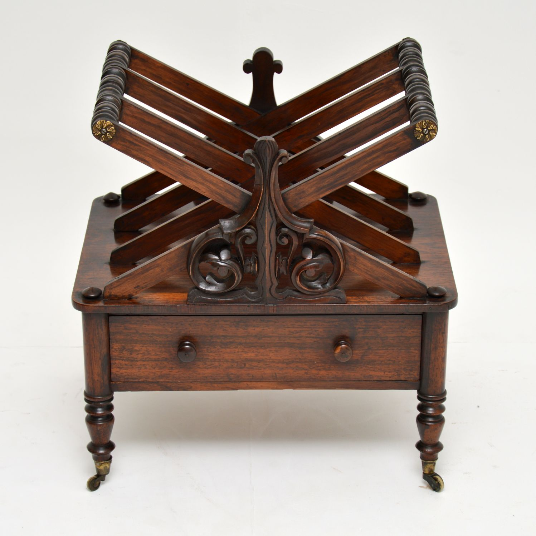 antique rosewood regency canterbury