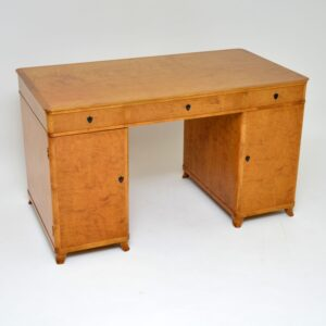 antique swedish satin birch desk