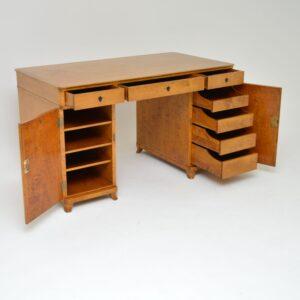 antique swedish satin birch desk