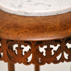 antique victorian burr walnut marble table stand jardiniere