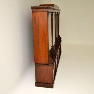 antique victorian mahogany dwarf bookcase