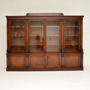 antique victorian mahogany dwarf bookcase