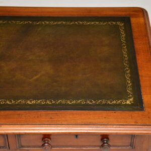 antique victorian mahogany leather desk writing table