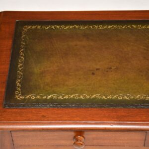 antique victorian mahogany leather writing table desk