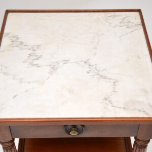 antique victorian mahogany marble top side table