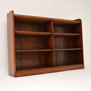antique victorian mahogany open bookcase