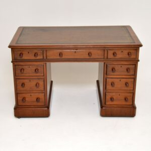 antique victorian mahogany pedestal desk