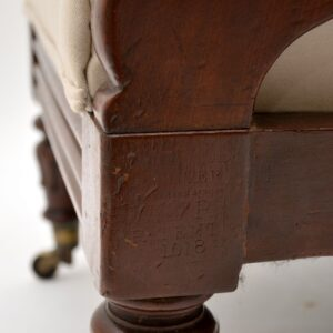Antique William IV Mahogany Reclining Armchair by George Minter