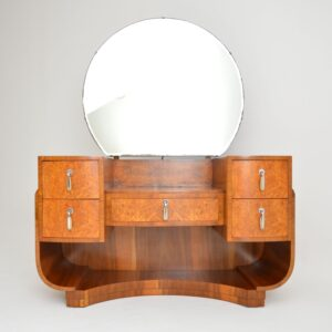 art deco burr walnut dressing table