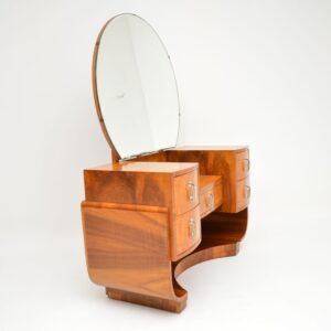 art deco burr walnut dressing table