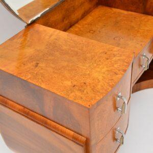 1920's Art Deco Period Burr Walnut Dressing Table