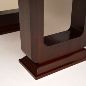 art deco french rosewood extending dining table
