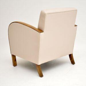 Swedish Art Deco Satin Birch Armchair